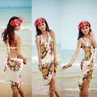 Summer Women Bathing Suit Bikini Cover Up Beach Dress Sarong Wrap Swimwear #@
