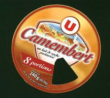 Etiquette de Fromage  Camembert U 8 Portions   No 343