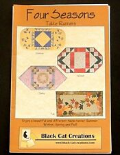 Four Seasons Table Runners Quilt Pattern Black Cat Creations Spring Summer