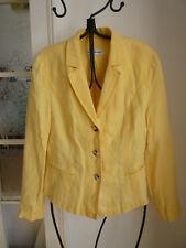 Lodenfrey Blazer gelb 100% Leinen Gr. 38 Maße!