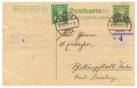 Schweiz, Ganzsache P 36 + ZuF Brienz BE 27.06.1912