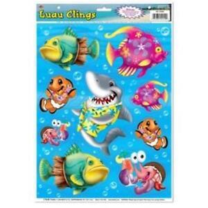 Luau Clings Luau Marine Life Birthday Party Decoration