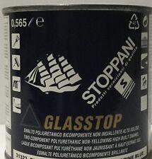 Smalto poliuretanico Glasstop Stoppani bicomp 31313BluGenzianBrill+catalizzatore