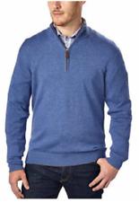 Kirkland Signature Men's Extra Fine Merino Wool ¼ Zip Sweater Blue Size M