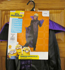 Minion Dracula Halloween Costume Outfit Cape Goggles Teeth Minions Movie Small