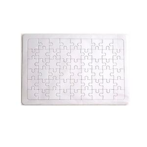 Blank Puzzle, Jigsaw cardboard puzzles Create Puzzle,54pieces(36.7.x25.2cm)-1pcs