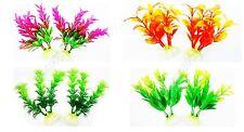Aquarium Plants Plastic Artificial Fish Tank Decor Ceramic STUNNING Underwater