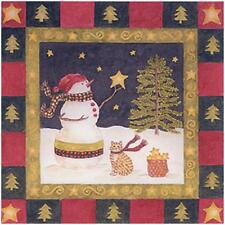 Alice's Cottage Winter Nights Paper Cocktail Napkins Christmas FREE US SHIPPING