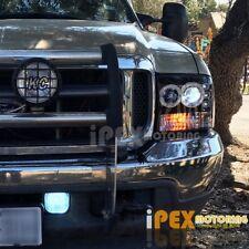 1999-2004 Ford F250/F350 Super-Duty Halo Projector LED Headlights Shiny Black