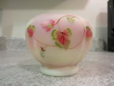 "Fenton 2008 Burmese Handpainted 'Leaf and Scroll"" Rosebowl"