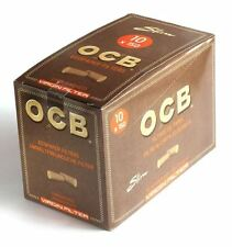 10 x 150 OCB Slim Virgin Unbleached Eco Filter Tips Smoking Rolling 6mm Packets