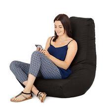 Black Gamer Adult Bean Bag Gaming Chair Big Giant Outdoor Seat Beanbag Highback