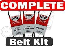 Honda accord 1986-1989 3 Piece BANDO Serpentine-Belt set A/C-Power Steering-Alt