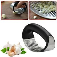 Manual Garlic Stainless Steel Press Crusher Squeezer Masher Mincer Kitchen Tool