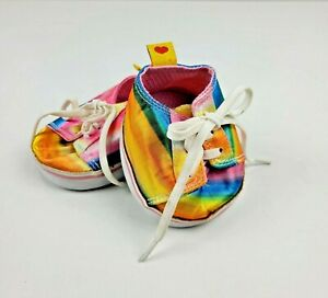 Build-a-Bear Workshop Rainbow Shoes Sneakers with White Laces