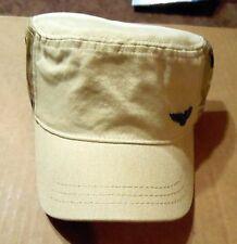 Desert Camo Hat! Tan/Brown! Wings Pin & Hidden Pocket! Adjustable! Sun Damaged!