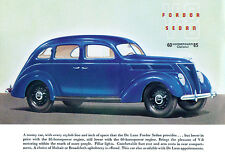 1937 Ford V-8 Fordor Sedan - Promotional Advertising Poster