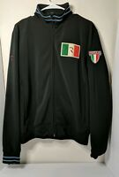 Roar Play Italia Black Zip Up Jacket Coat Mens Size Medium Euro Size 40 Soccer