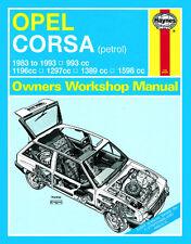 3160 Haynes Opel Corsa Benzina (1983-MAR 1993) Manuale Officina