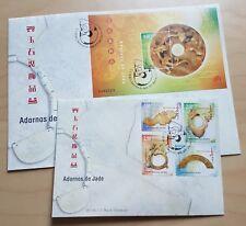 2000 Macau Jade Ornaments Stamps & S/S (paired) FDC 澳门玉石装饰品(邮票+小型张)首日封