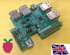 Rs-pi 7 PORTE USB HUB-MULTIFUNZIONE I2C A / D D / A BORDO RTC per Raspberry Pi