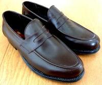 Clifford James Men's Slip On Brown Leather Penny Loafer Shoes Size UK 8 EU 42