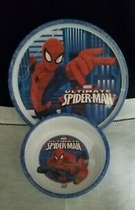 Zak Designs Ultimate Spiderman Plate and Bowl Set
