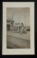 RPPC 1910s Playa Trolley Tracks Wire Beach Ponce PR Puerto Rico