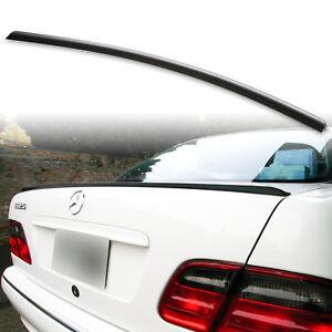 Fyralip Trunk Lip Spoiler For Mercedes Benz 96-01 W210 E-Class Unpainted Black