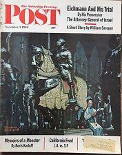 SATURDAY EVENING POST Nov 3 1962 * Eichmann Trial * First on Moon * Politics