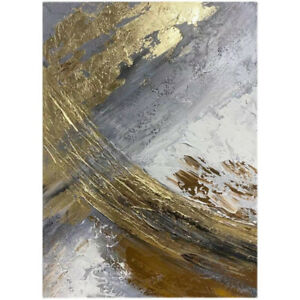 """HH436 Art deco Pure Hand-painted abstract gold foil oil painting Unframed 36"""""""