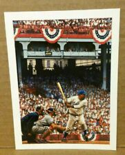 "Bill Goff Photo Card of ""Jackie Robinson's Debut"" by B. Purdom 5"" X 4"" - Ex Cond"