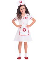 Girls Nurse Costume Childs Hospital Medical Uniform Fancy Dress Kids Book Day