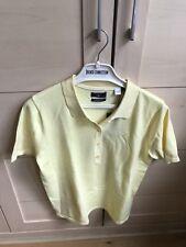 GANT yellow women's puma cotton polo top