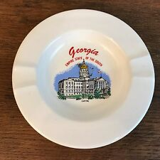 Vintage Ceramic Georgia Empire State of the South Souvenir Cigarette Ashtray HD3