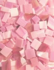 Pink Stained Glass Mosaic Scrap Pack, about 100 Hand Cut Pieces