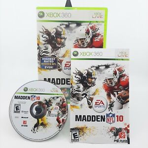 Madden NFL 10 (Microsoft Xbox 360, 2009, CIB, Minty) EA Sports with Manual