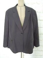 New Emily women skirt suit 34W gray pencil blazer jacket long sleeve size $169