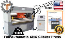 NEW!! CJRTec 75 Ton Traveling Head CNC Clicker Press Die Cutting Machine
