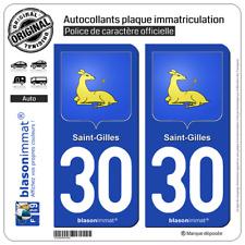 2 Blasonimmat plaque immatriculation | 30 Saint-Gilles - Armoiries | 30800