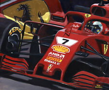 Art card 2018 Ferrari SF71H #7 Kimi Räikkönen (FIN) by Toon Nagtegaal (OE)