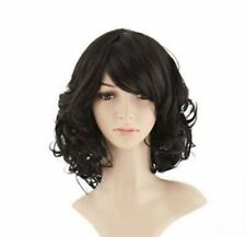 100% Real Hair Women's Short Wig Curly Wavy Ladies Hair Cosplay Party Full Wigs