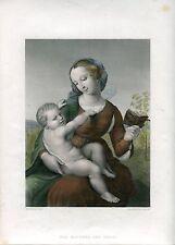 «The Madonna and Child» grabado por F. Lightfood sobre obra de Rafael
