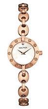 Nautica NAI16504M Women's 35 Rose Gold Stainless Steel Watch $165