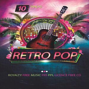 Retro Pop - Pop Music PPL PRS Licence Free CD ROYALTY FREE