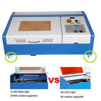 4 Wheel 40W CO2 Laser Engraving Cutting Machine Engraver Cutter USB Ridgeyard