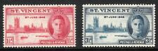 1946 St Vincent End of World War II set of 2 mint stamps.