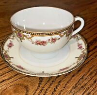 Vintage Hand Painted From Japan Light Weight Tea Cup And Saucer