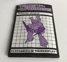 Transformers g1 squeezeplay euro instructions Dutch / French