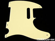 * NEW Cream Telecaster PICKGUARD for Fender USA Vintage Tele Guitar 1 Ply 5 Hole